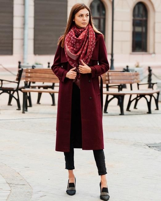 Пальто миди на осень